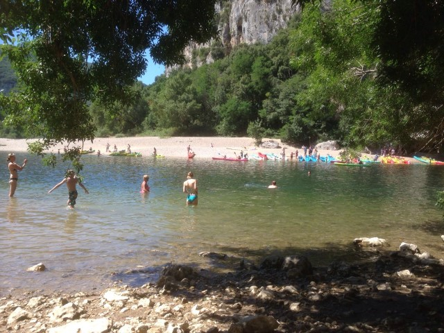 Swimming in the Ardèche